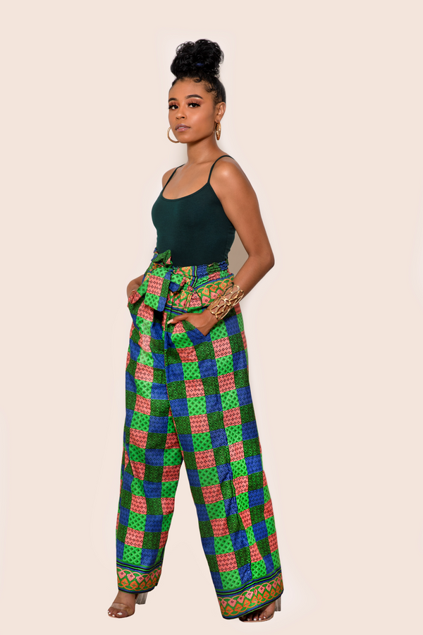 African Print Adize Palazzo Pants