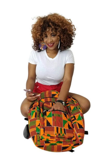 Kente African Print Backpack - Oludan