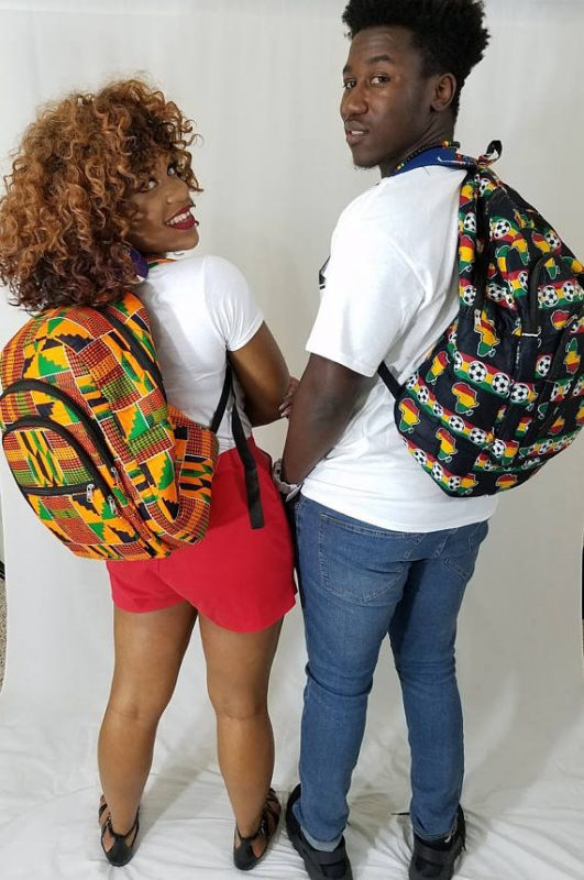 African Print Kente Backpack - Oludan