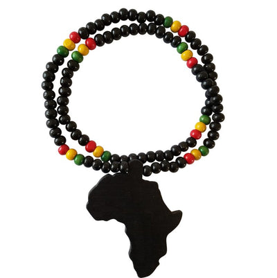 Collins African Map Reggae Necklace (Black) - Oludan