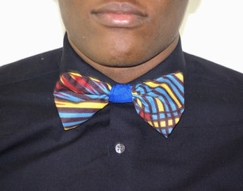 Lums African Print Bow Tie - Oludan