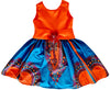 African Print Dashiki Sere Midi Dress For Girls - Oludan