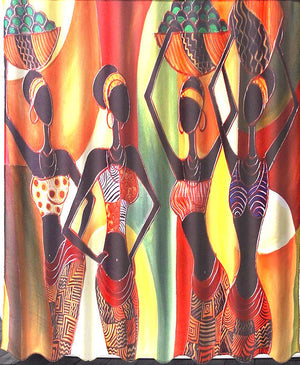 African Shower Curtain - Oludan