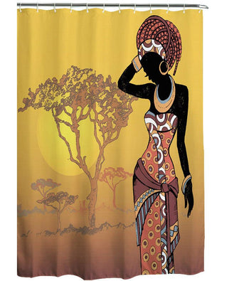 Beautiful African Woman Design Shower Curtain - Oludan