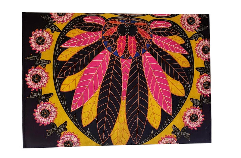 African Print Cappuccino Envelope Clutch - Oludan