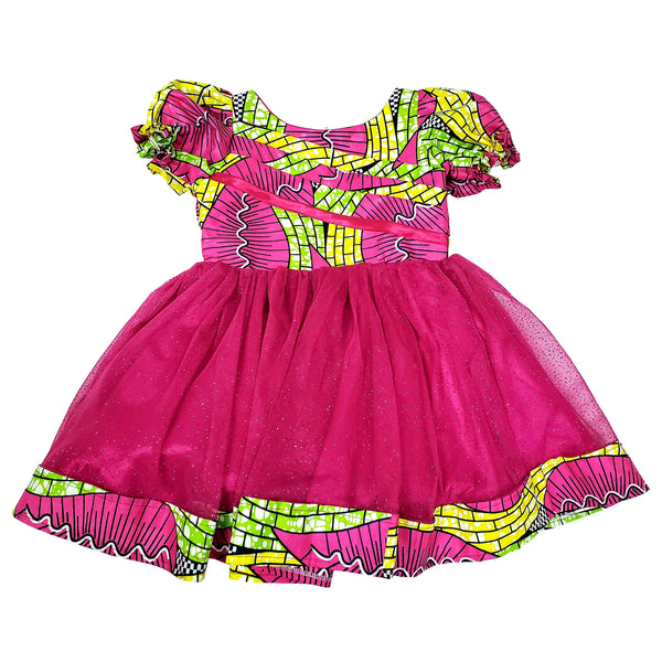 Arosa African Print Midi Dress For Girls - Oludan
