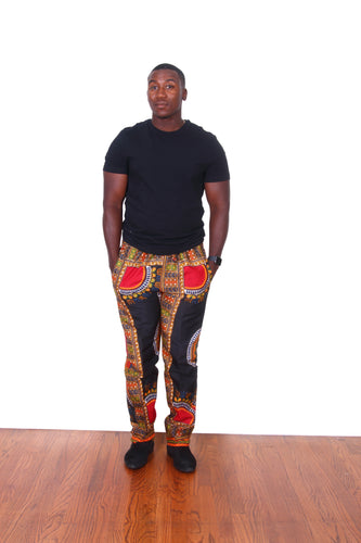 Black Dashiki Pants For Men - Oludan
