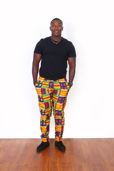 African Print Opia Pants For Men - Oludan