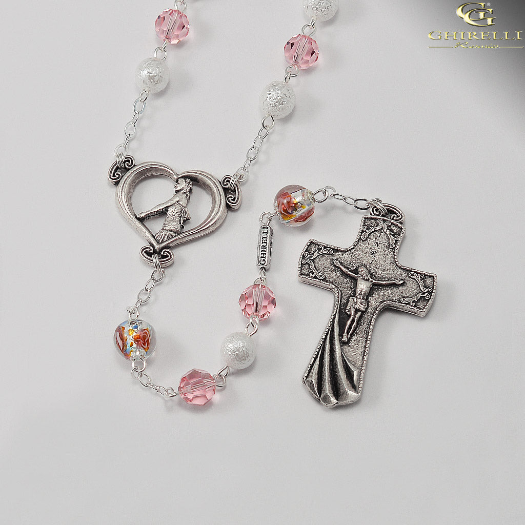 Wedding Rosary for the Bride with Swarovski by Ghirelli