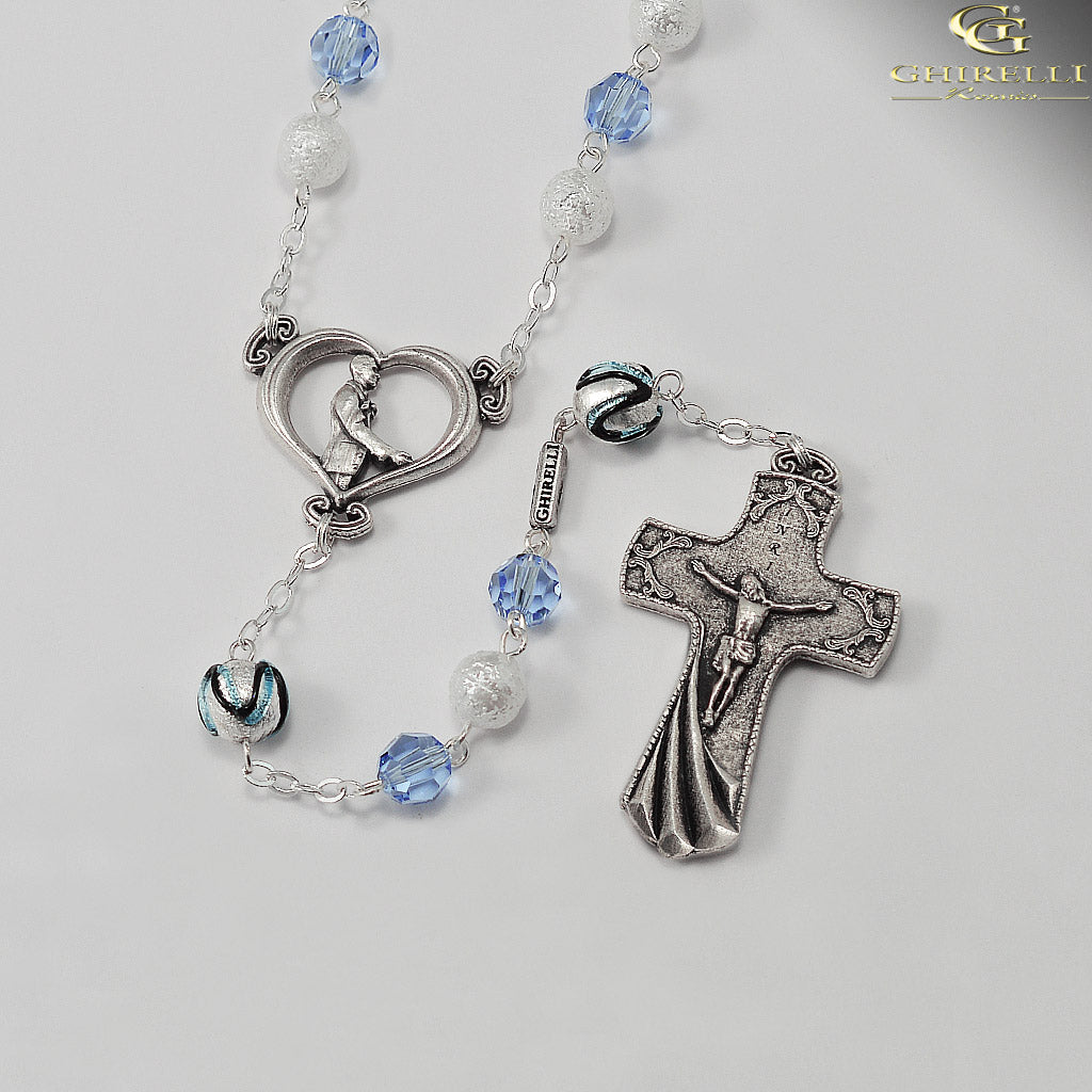Wedding Rosary for the Groom with Genuine Swarovski by Ghirelli