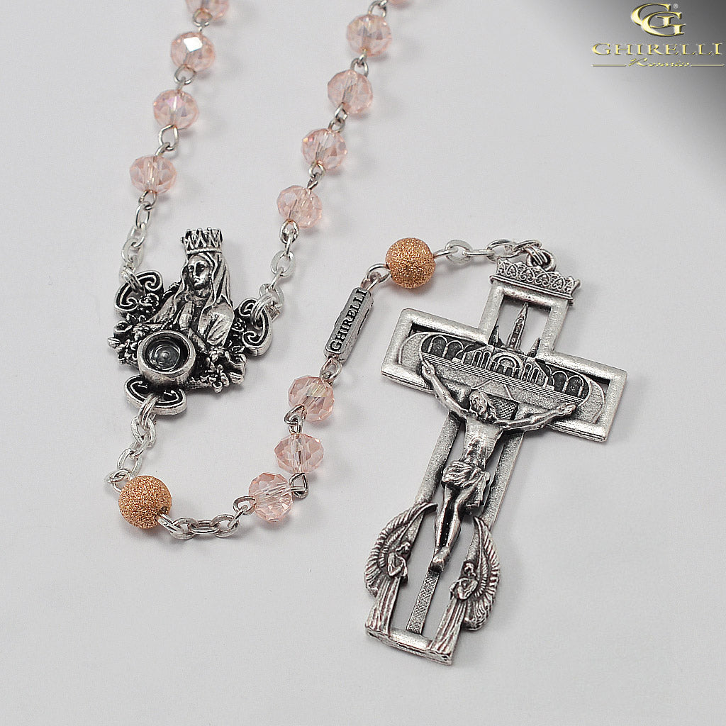 Our Lady of Lourdes 160th Anniversary Rosary with Genuine Lourdes Water by Ghirelli