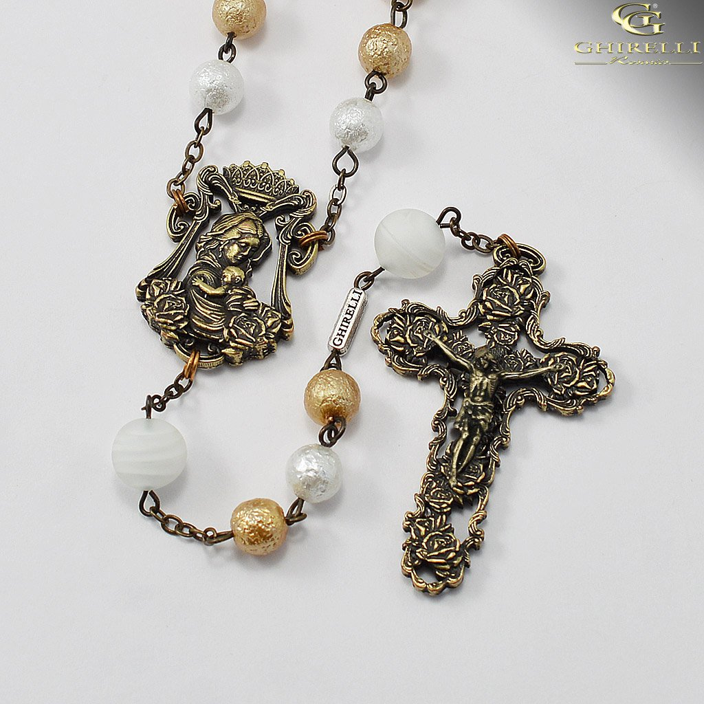 Rosaries for Women with Genuine Murano Glass and Antique Bronze by Ghirelli