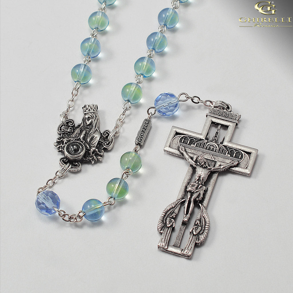 Our Lady of Lourdes 160th Anniversary Rosary with Real Lourdes Water by Ghirelli