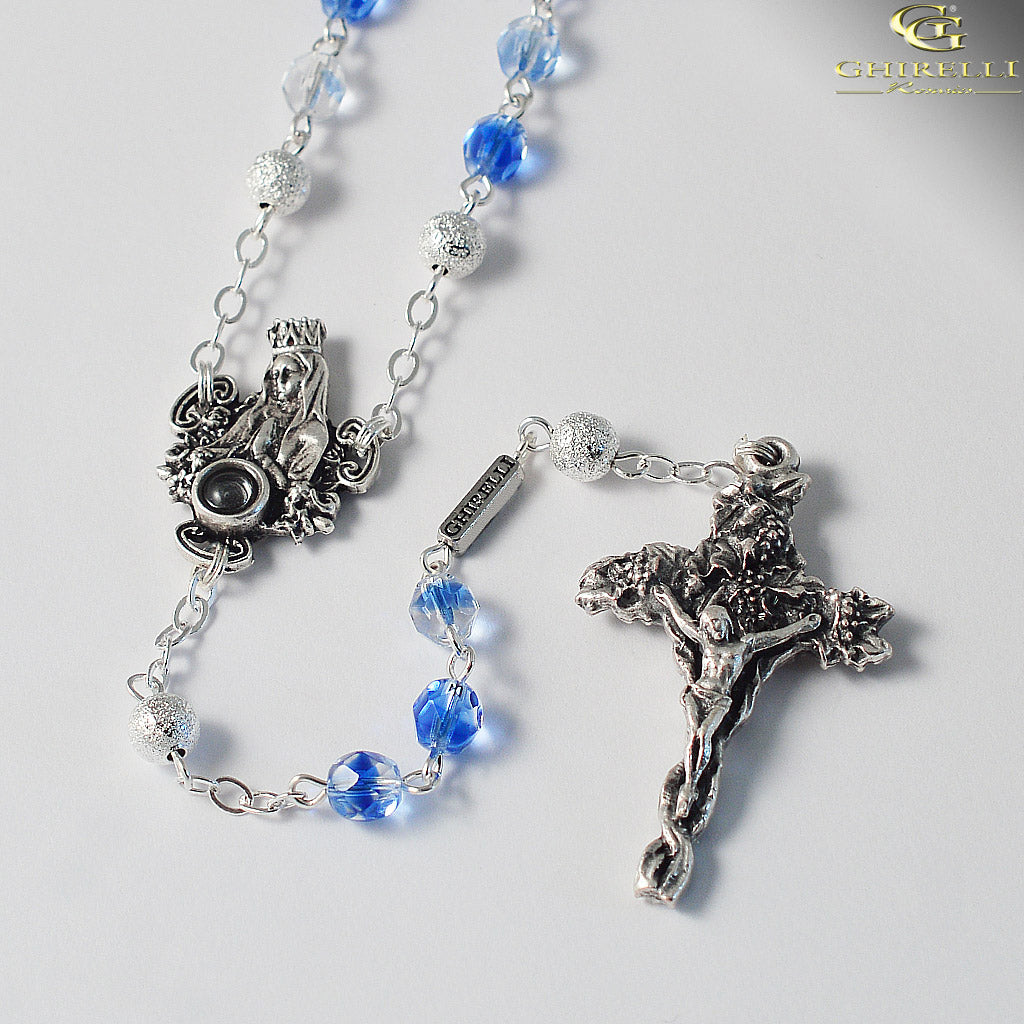 Our Lady of Lourdes Rosary with Real Lourdes Water by Ghirelli