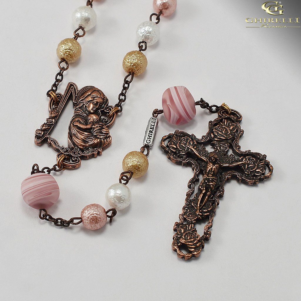 Rosaries for Women with Genuine Murano Glass and Antique Copper by Ghirelli