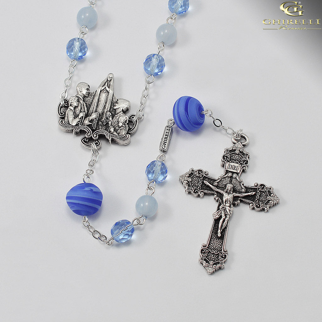 Rosaries for the Family in Antique Silver and Murano Glass by Ghirelli