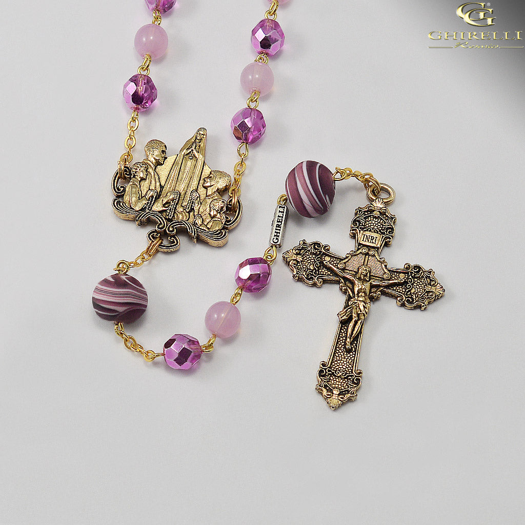 Rosaries for the Family in Antique Gold and Murano Glass by Ghirelli
