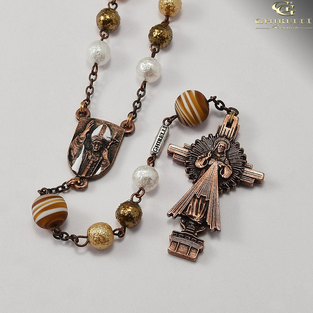 Saint John Paul II Rosary in Antique Copper by Ghirelli