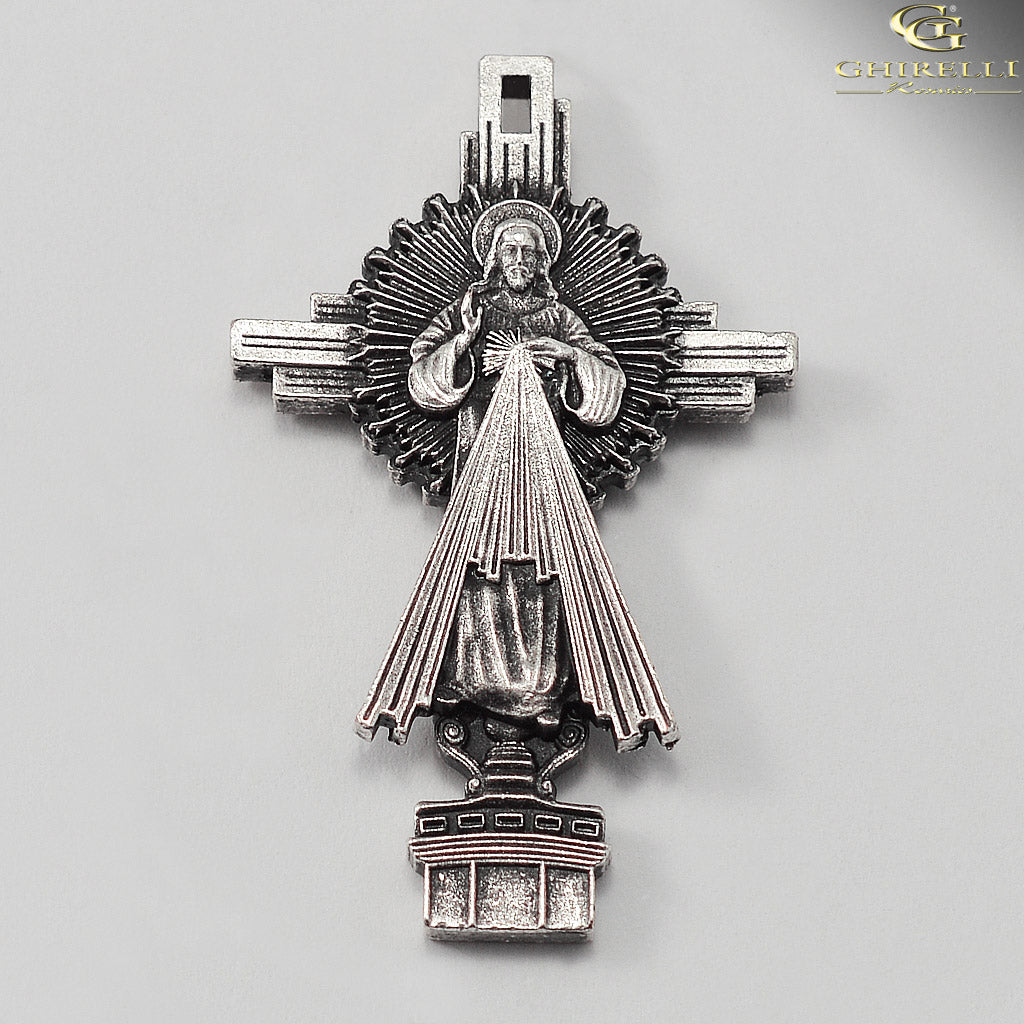Saint John Paul II Rosary in Antique Silver by Ghirelli