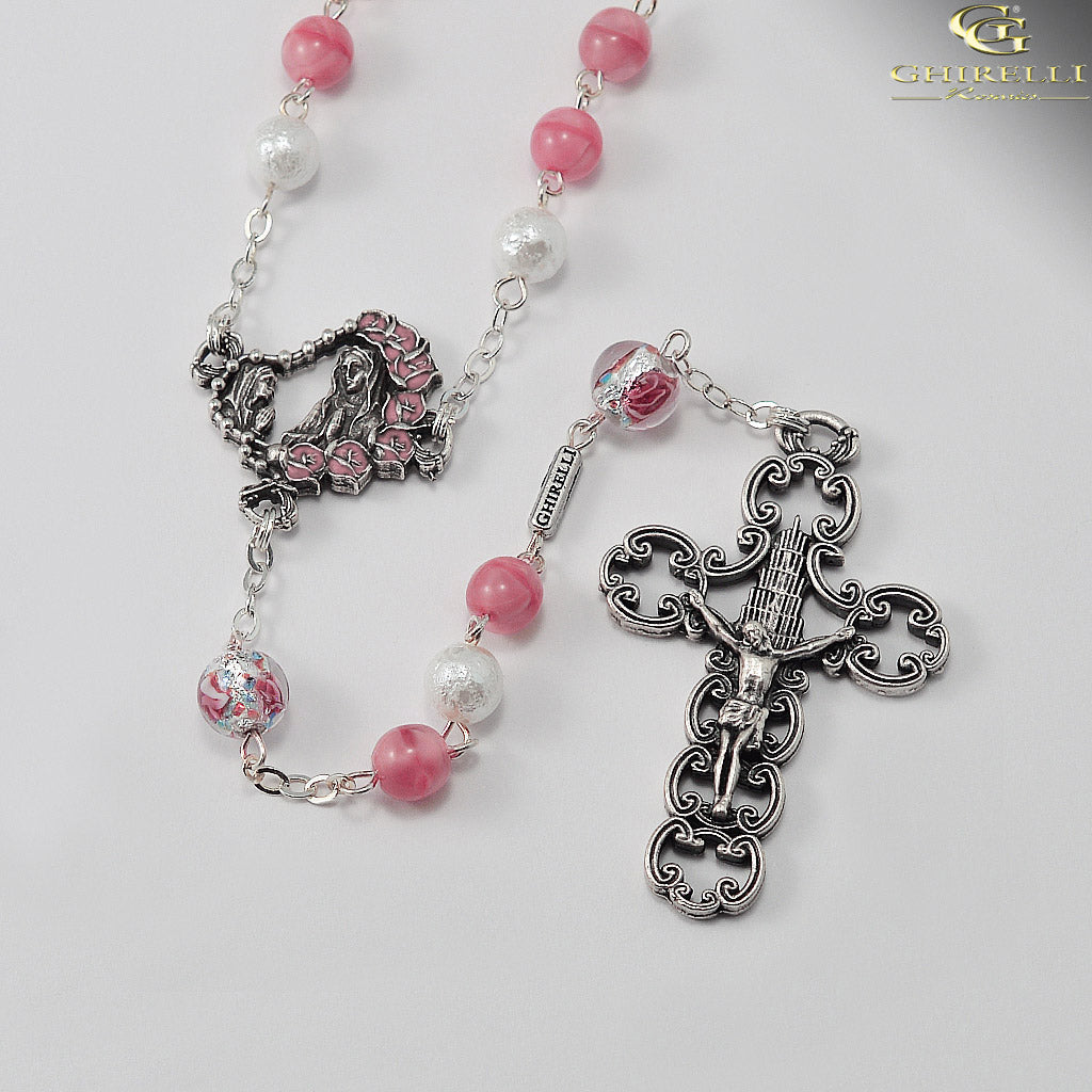 Our Lady of Lourdes Rosary with Lumen Beads by Ghirelli