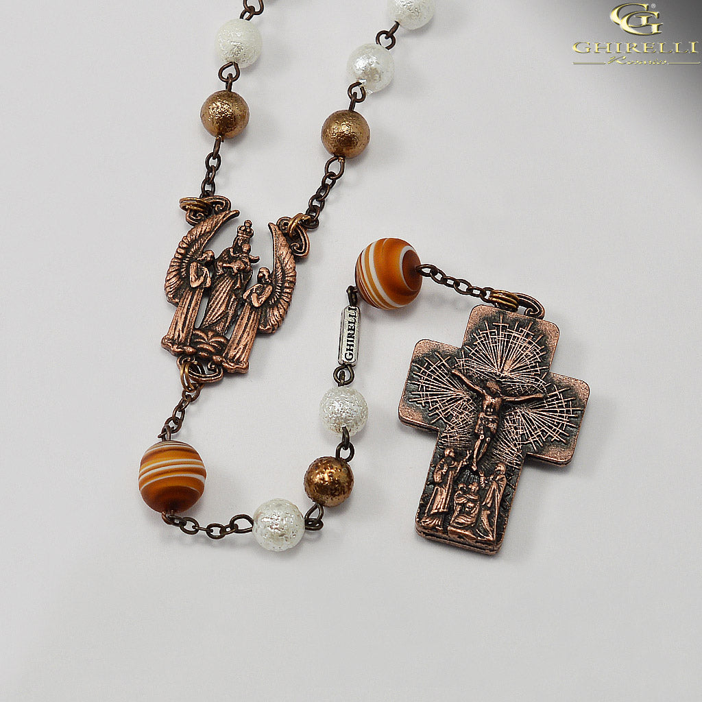 The Holy Mass Rosary with Genuine Murano Glass by Ghirelli