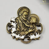 Saint Joseph Rosary with Murano Glass in Antique Brass by Ghirelli