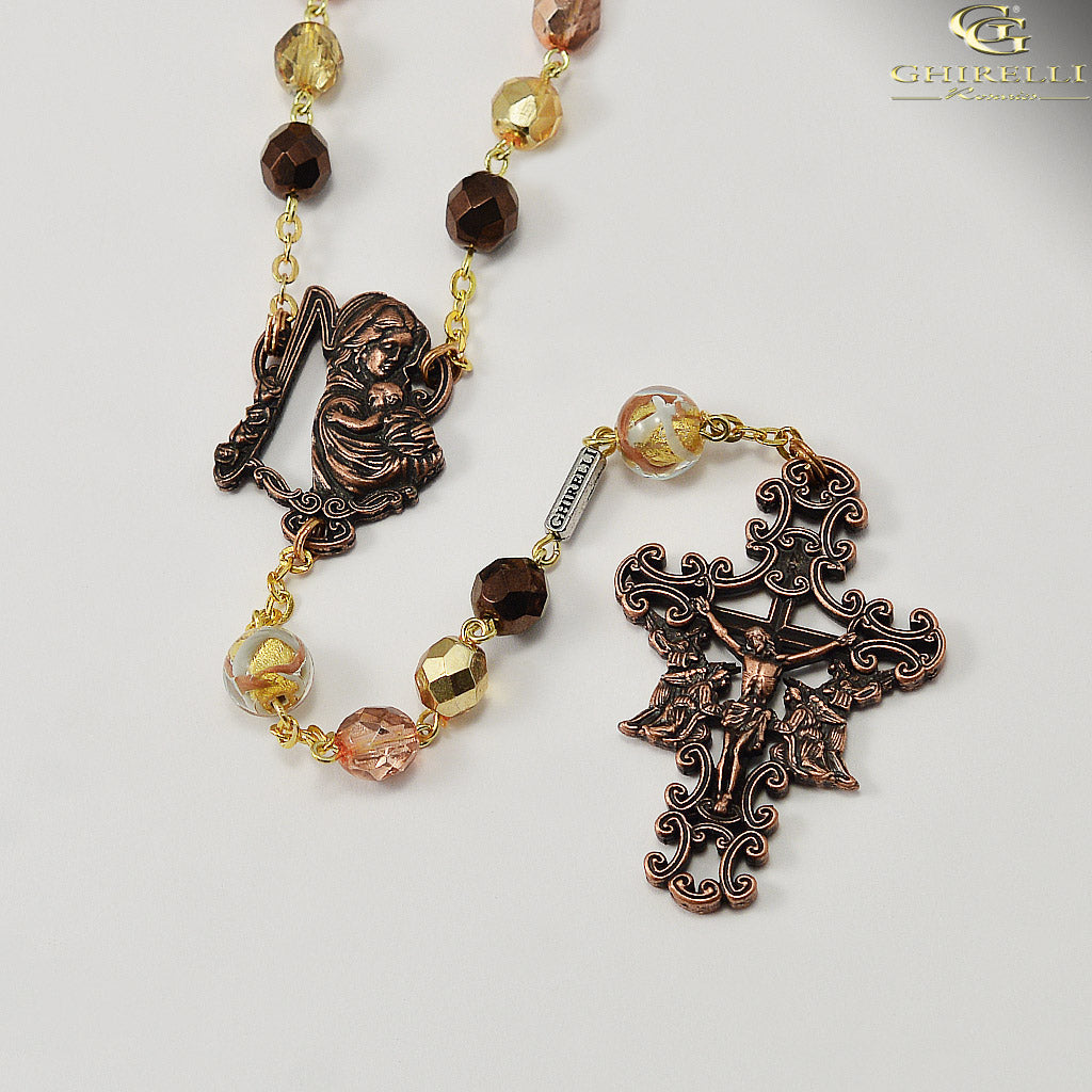 Rosaries for Women in Antique Copper by Ghirelli