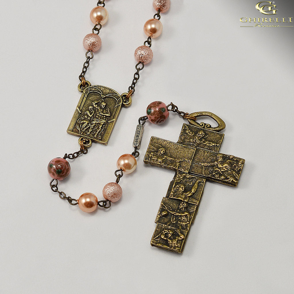 Sistine Chapel Rosary in Antique Bronze by Ghirelli