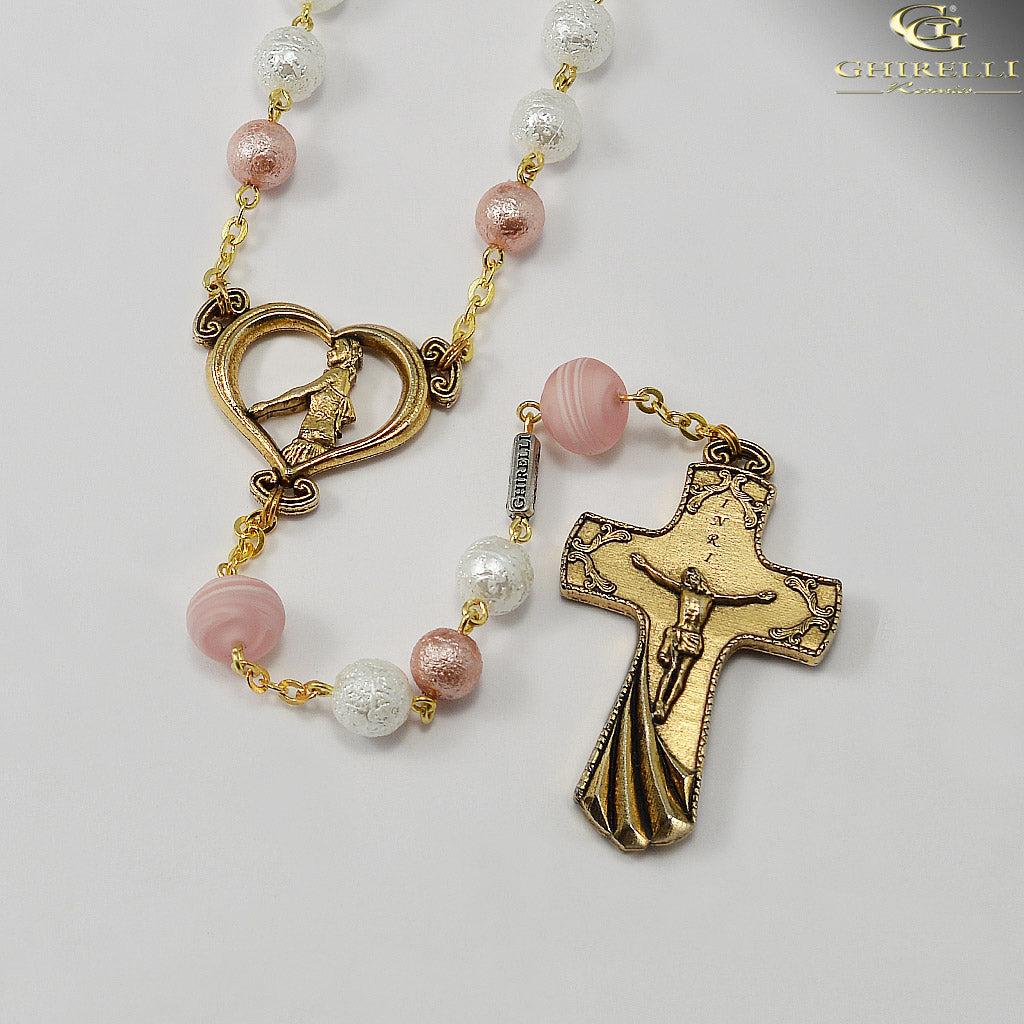 Wedding Rosary for the Bride with Genuine Murano Glass by Ghirelli