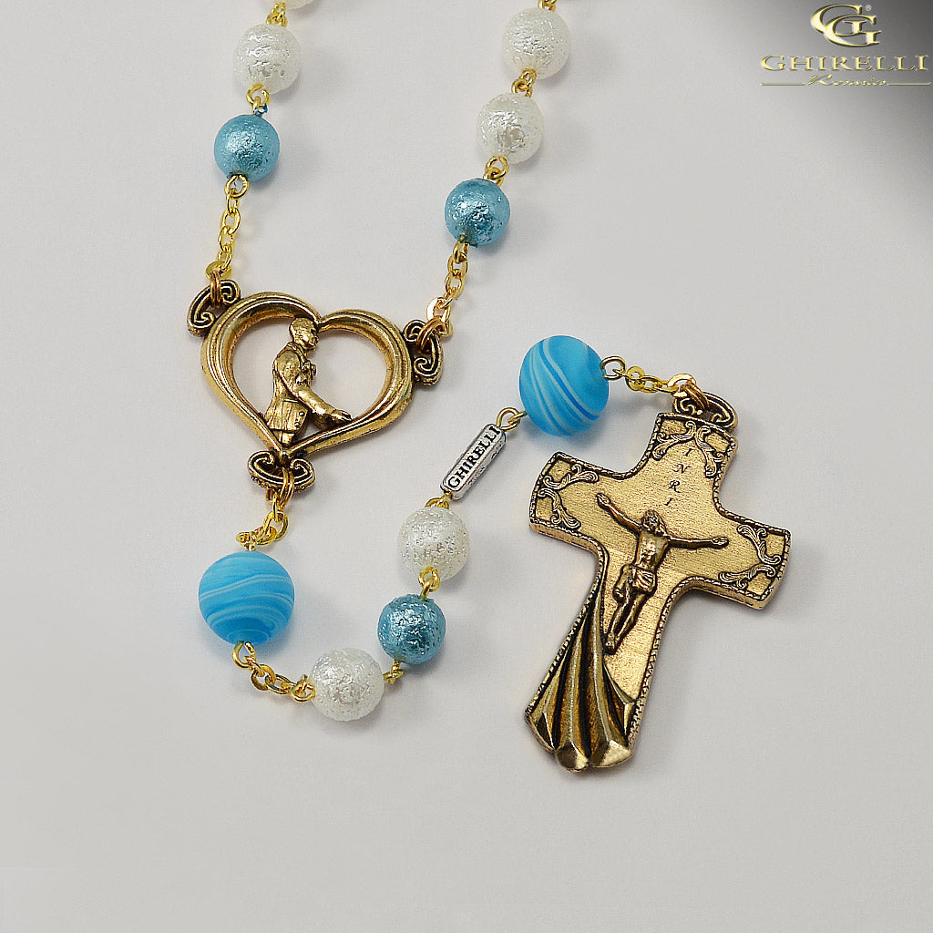 Wedding Rosary for the Groom with Genuine Murano Glass by Ghirelli
