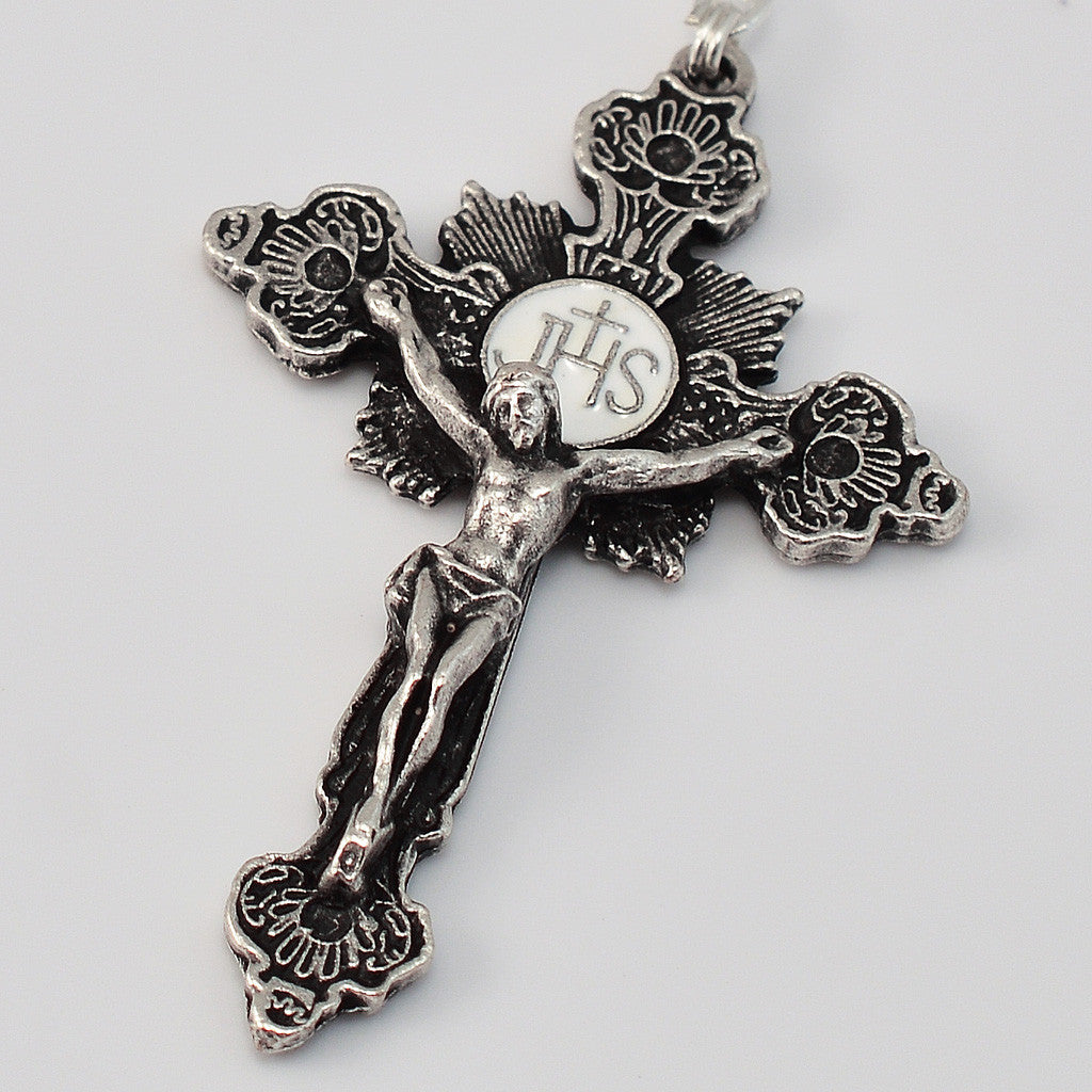 Knock Apparition silver plated Rosary