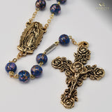 Guadalupe gold plated Rosary - Ghirelli Rosaries - Rosary Beads For Sale