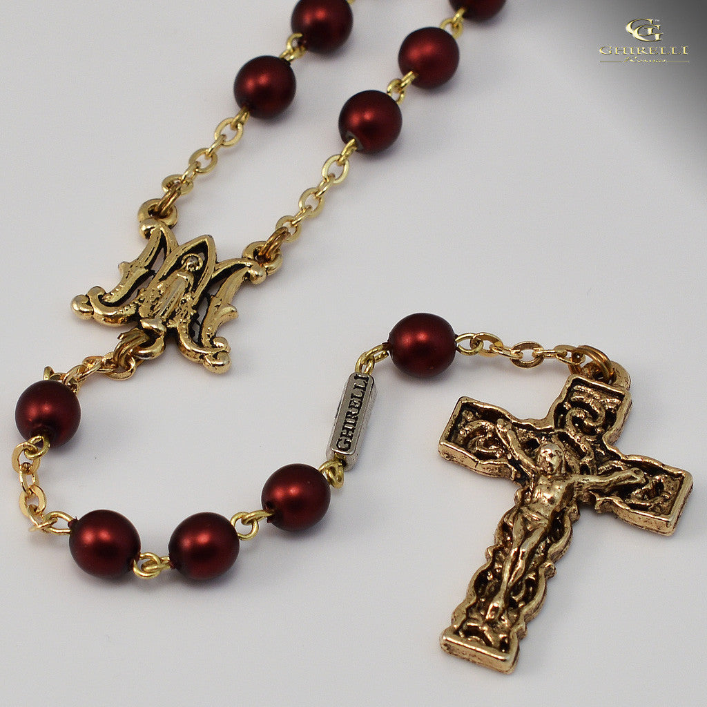 Annunciation gold plated Rosary
