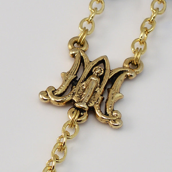 Annunciation gold plated rosary ghirelli rosaries
