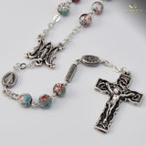 Miraculous Medal silver plated Rosary - Ghirelli Rosaries - Rosary Beads For Sale