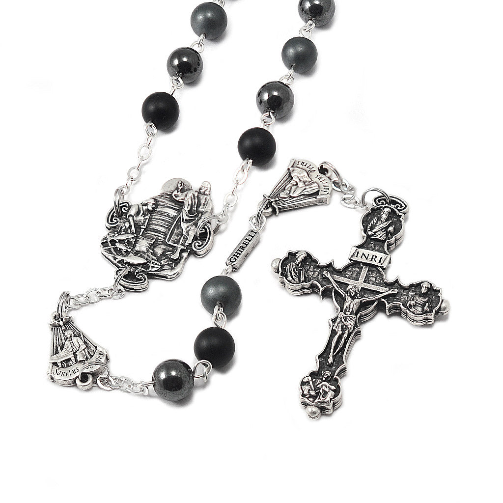 The Rosary of the Twelve Apostles with genuine hematite beads by Ghirelli