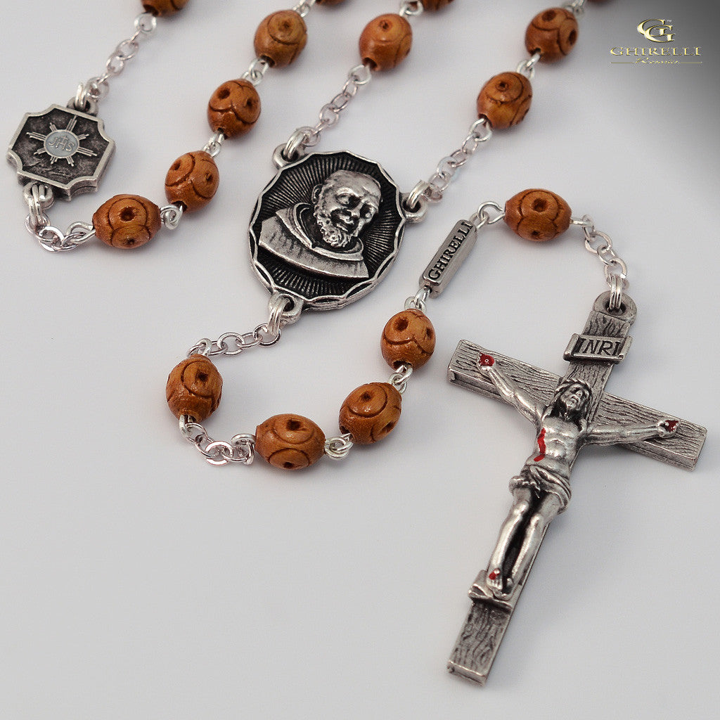 St. Pio of Pietrelcina silver plated Rosary