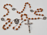 St. Pio of Pietrelcina silver plated Rosary - Ghirelli Rosaries - Rosary Beads For Sale
