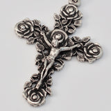 Guadalupe silver plated Rosary - Ghirelli Rosaries - Rosary Beads For Sale