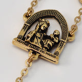 Notre Dame de Paris gold plated Rosary - Ghirelli Rosaries - Rosary Beads For Sale