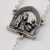 Notre Dame de Paris silver plated Rosary - Ghirelli Rosaries - Rosary Beads For Sale