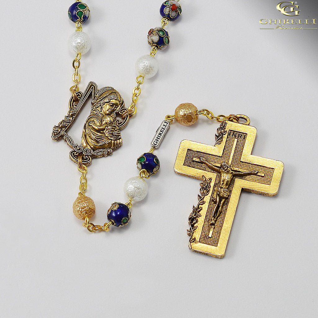 Rosaries for Women in Antique Gold by Ghirelli