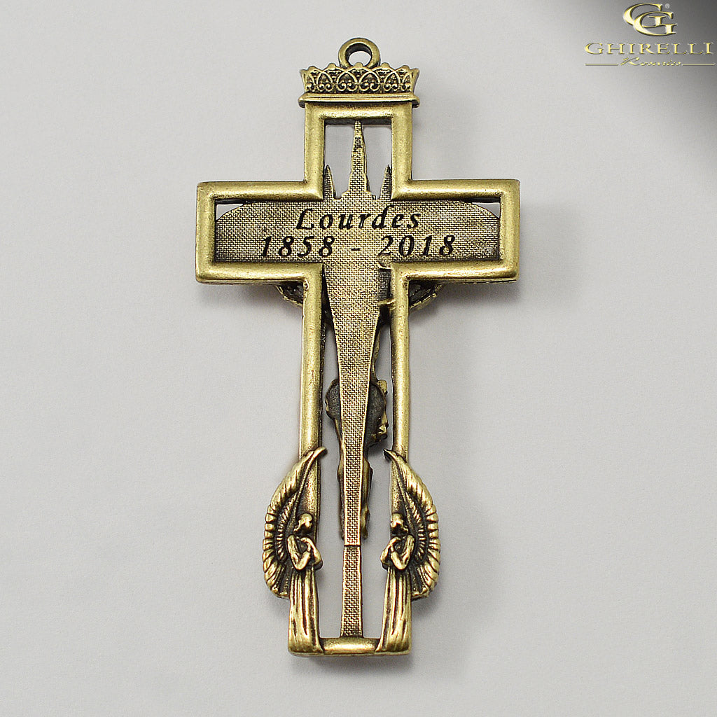Our Lady of Lourdes 160th Anniversary Rosary in Antique Bronze by Ghirelli