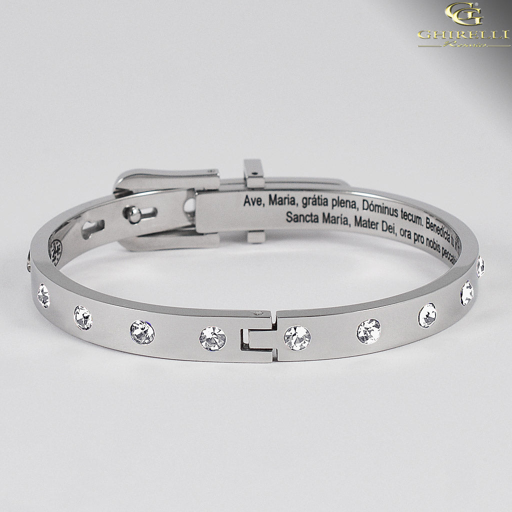 SECRETUM® Stainless Steel Bracelet with Crystal Swarovski crystals by Ghirelli