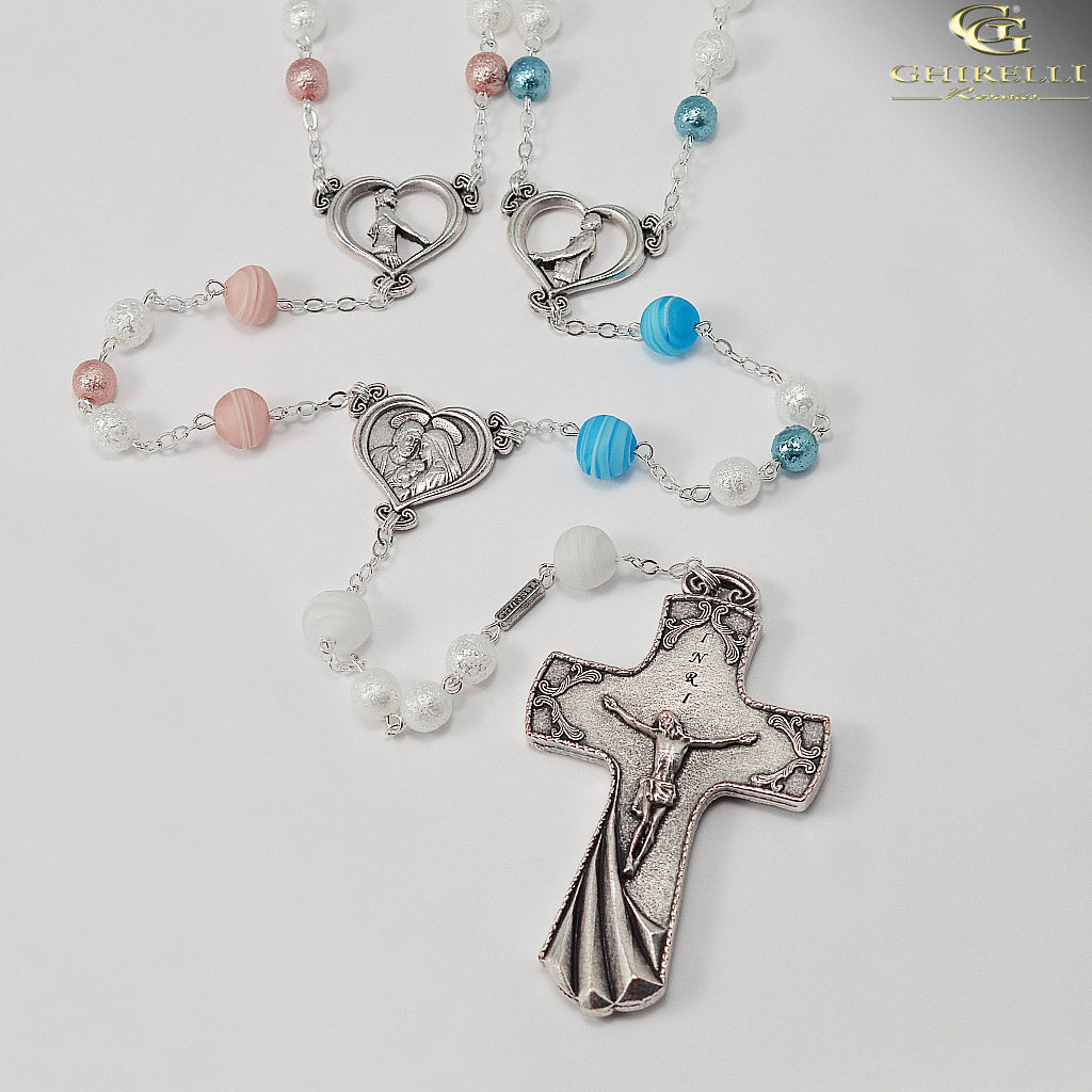 El Lazo Wedding Lasso Rosary with Murano Glass by Ghirelli