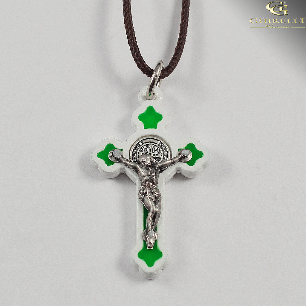 Saint Benedict Crucifix Pendant Gothic Style by Germoglio for Ghirelli - CR 248 GR