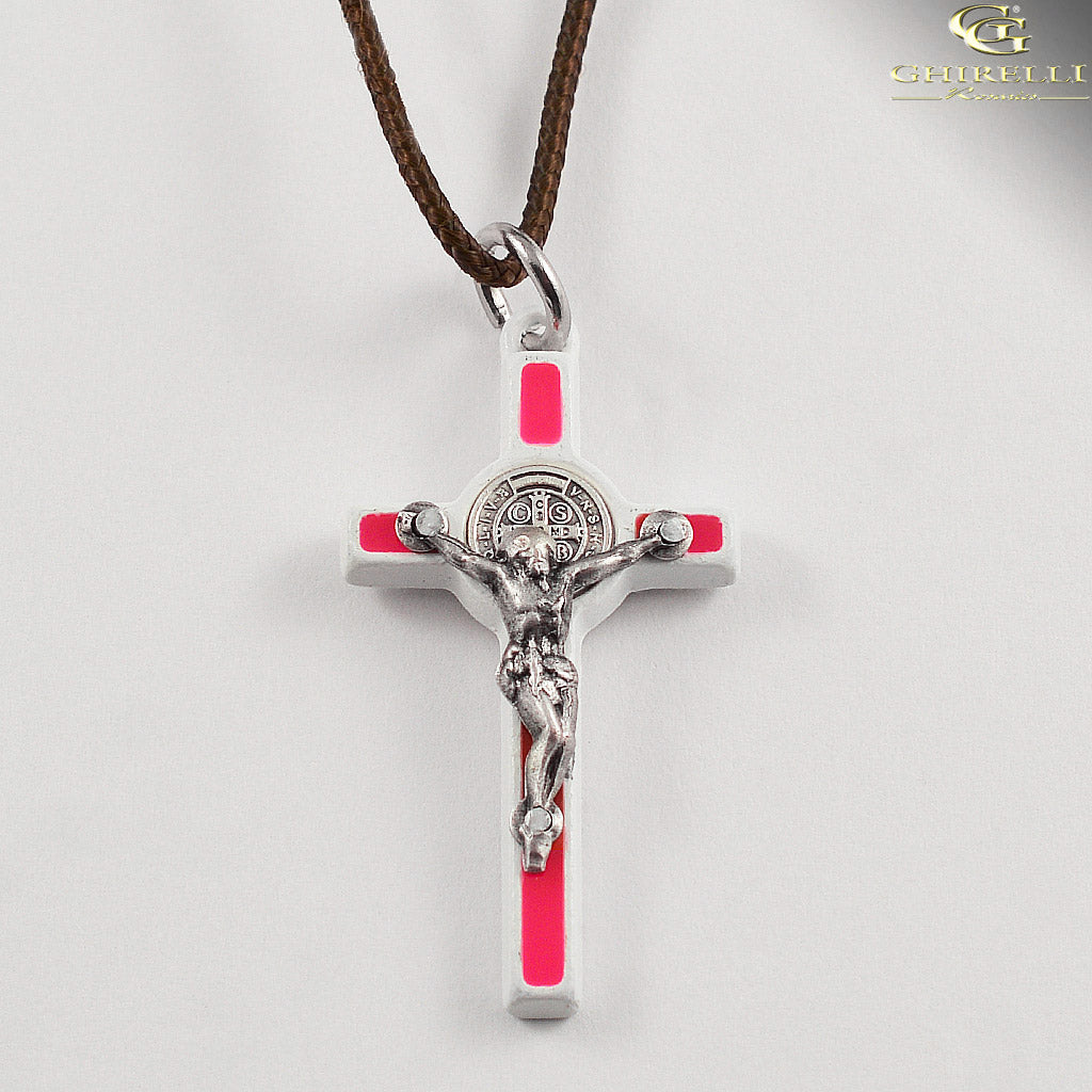 Saint Benedict Crucifix Pendant Traditional Style by Germoglio for Ghirelli - CR 249 GR