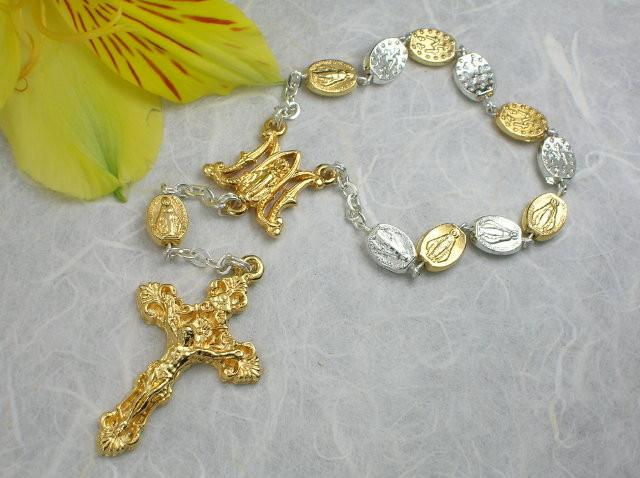 Matteo: Miraculous Medal Decade Rosary - Two Tone