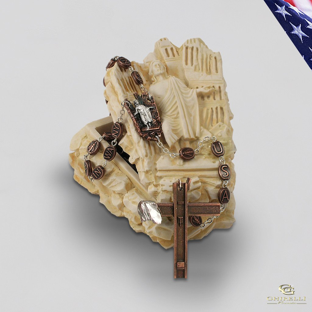 9/11 Remembrance Rosary Keepsake Box