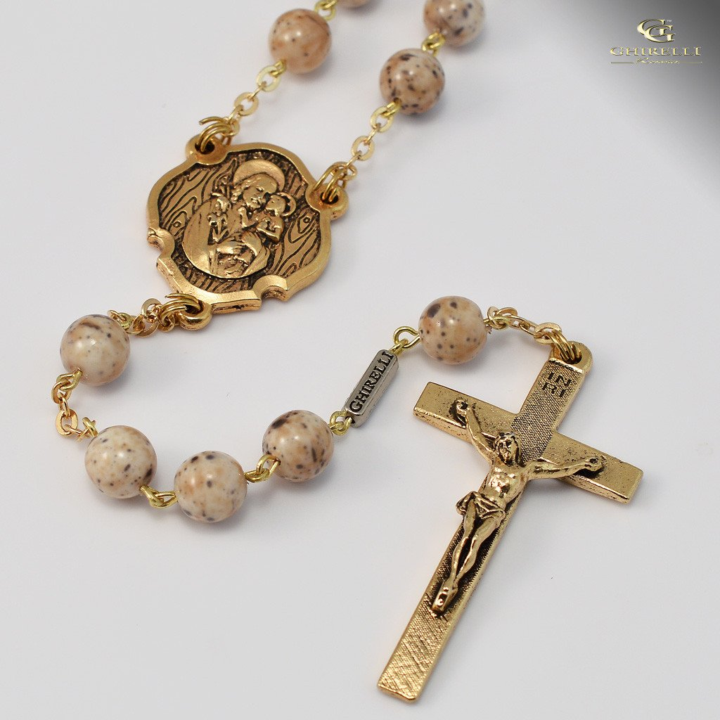 St. Joseph Rosary in Gold
